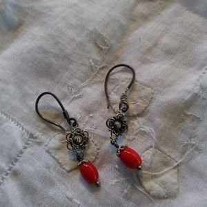 Vintage Indonesian Sterling Silver Earrings